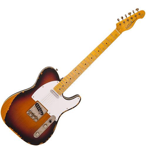 Vintage V59 ICON Electric Guitar ~ Distressed Sunburst