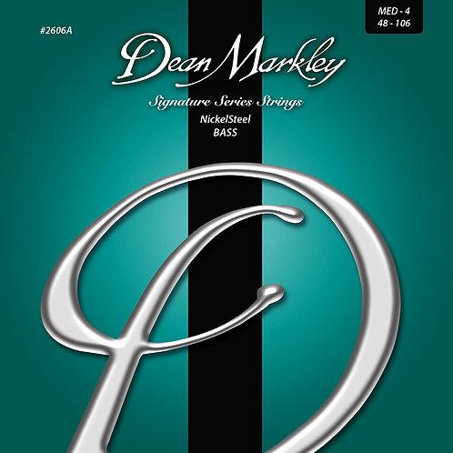Dean Markley NickelSteel Signature Bass Strings Medium 4 String 48-106