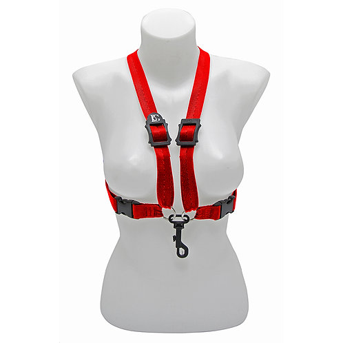 BG Alto & Tenor� Sax Womens Harness ~ Red ~ Snap Hook