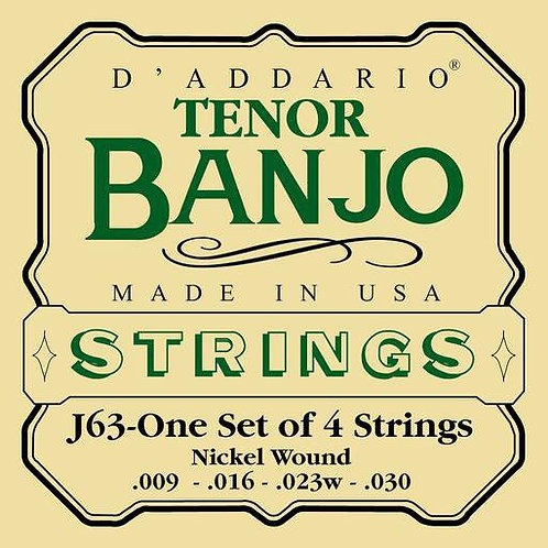 D'Addario J63 Nickel 4-String Tenor 9-23