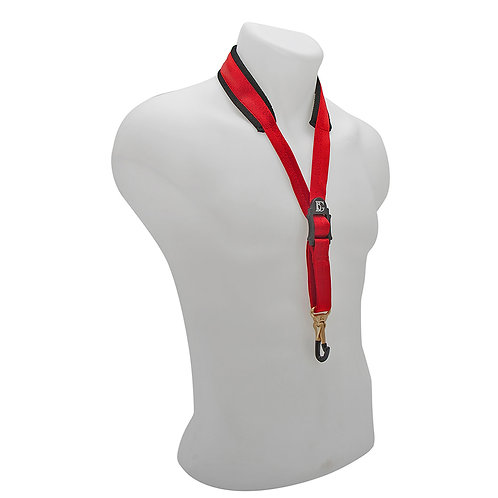 BG Comfort Neck Strap Alto and Tenor Large Red Coated Metal Snap Hook