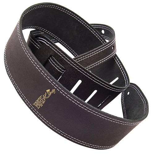 Fret-King Leather Strap ~ Black