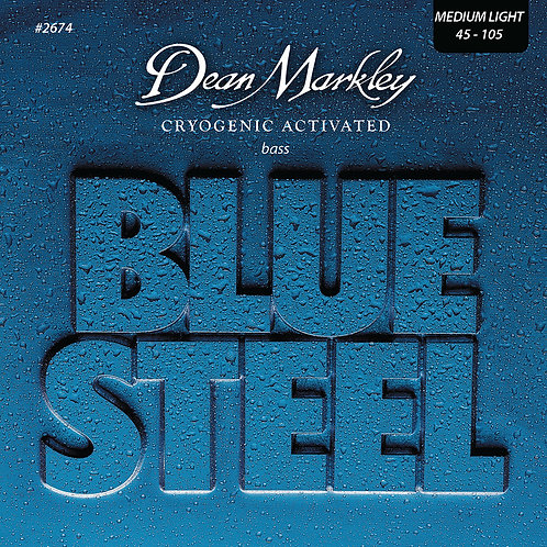 Dean Markley Blue Steel Bass Guitar Strings Medium Light 4 String 45-105