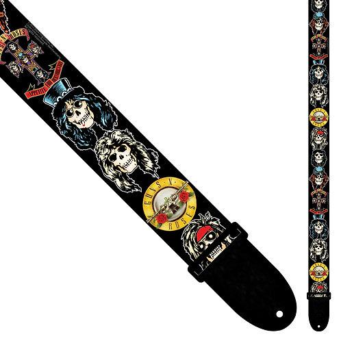 Perri's Polyester Guitar Strap ~ Guns 'n' Roses ~ Skulls