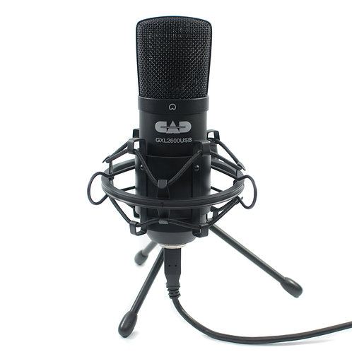 CAD Premium USB Large Diaphragm Cardioid Condenser Microphone w/Stand