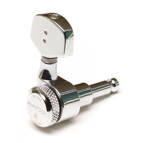 GraphTech Ratio Electric Locking 3+3 Contemporary 2 Pin Chrome