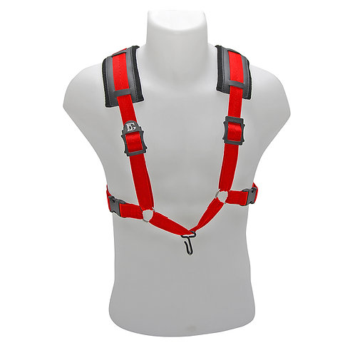 BG A and T Saxophone Comfort Harness ~ XL ~ Red ~ Metal Hook