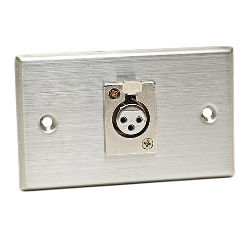 CAD Stainless Steel Wall Plate ~ 1 x XLR-F Connector