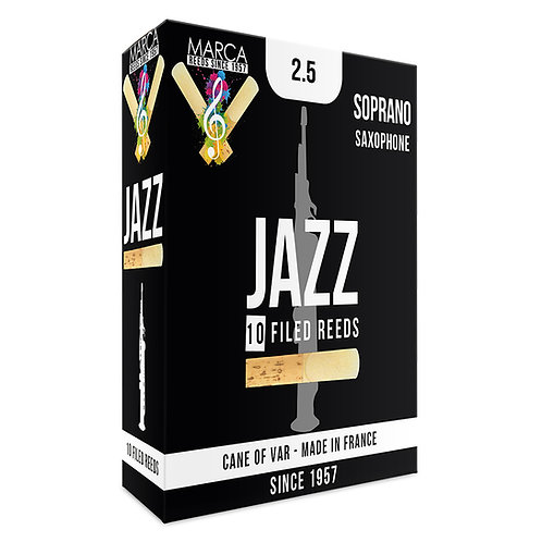 Marca Jazz Filed Reeds - 10 Pack - Soprano Sax - 2.5