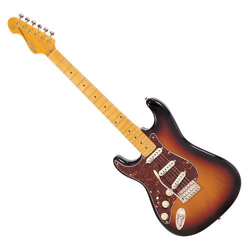 Vintage V6M Reissued Electric Guitar ~ Left Hand Sunburst