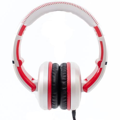 CAD Sessions 510 Studio Headphones ~ White/Red