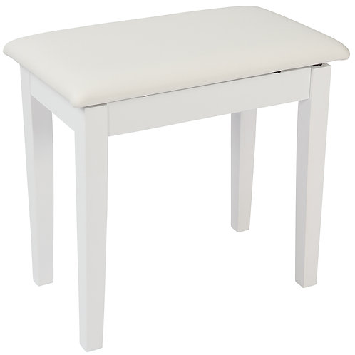Kinsman Piano Bench with Storage ~ Satin White