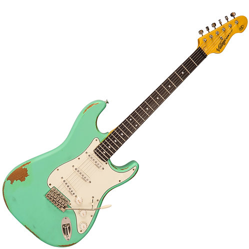 Vintage V6 ICON Electric Guitar ~ Distressed Ventura Green