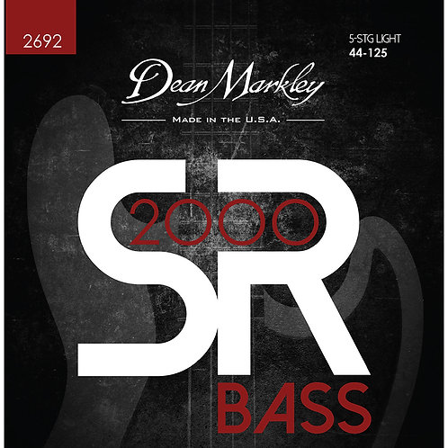 Dean Markley SR2000 High Performance Bass Guitar Strings Light 5 String 44-125