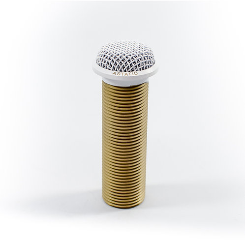 CAD Astatic RF Resistant Mini-Boundary Button Condenser Microphone - White