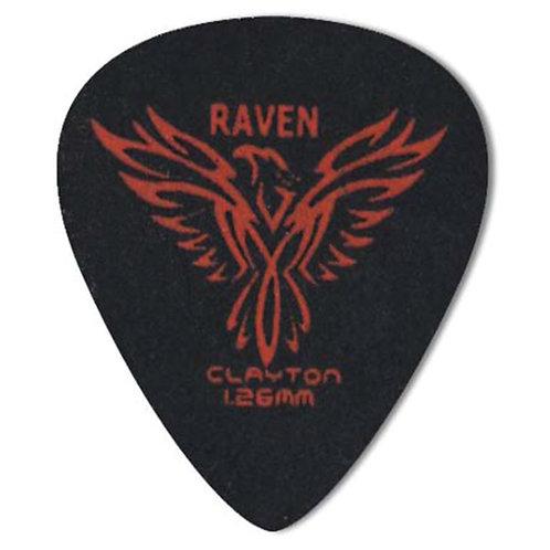 Clayton BLACK RAVEN PICK STANDARD 1.26MM (72 Pack)