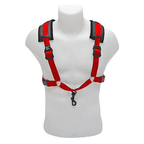 BG A and T Sax Comfort Harness Men XL ~ Red ~ Snap Hook