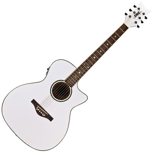 Daisy Rock 'Wildwood Artist' Electro-Acoustic Guitar ~ Pearl White