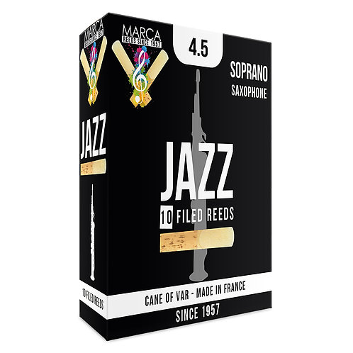 Marca Jazz Filed Reeds - 10 Pack - Soprano Sax - 4.5