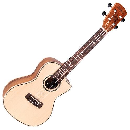 Laka Electro-Acoustic Cutaway Ukulele ~ Concert