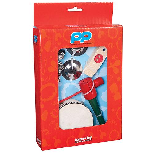 PP Music Box ~ Jingle / Wood ~ 4pc Set