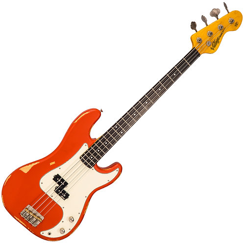 Vintage V4 ICON Bass ~ Distressed Firenza Red