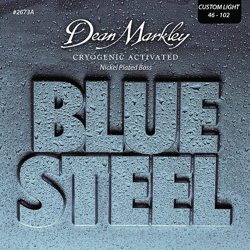 Dean Markley Blue Steel NPS Bass Guitar Strings Custom Light 4 String 46-102