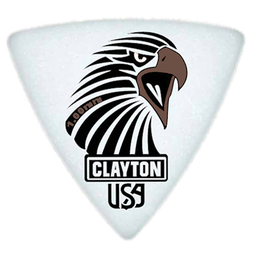 Clayton Acetal Sharp Rounded Triangle 1.0mm (12 Pack)
