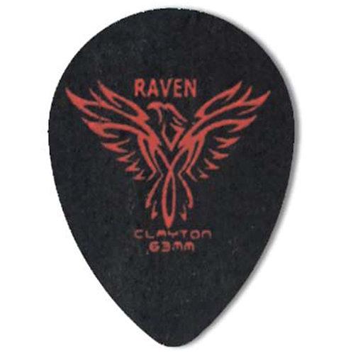 Clayton BLACK RAVEN PICK SMALL TEARDROP .63MM (72 Pack)