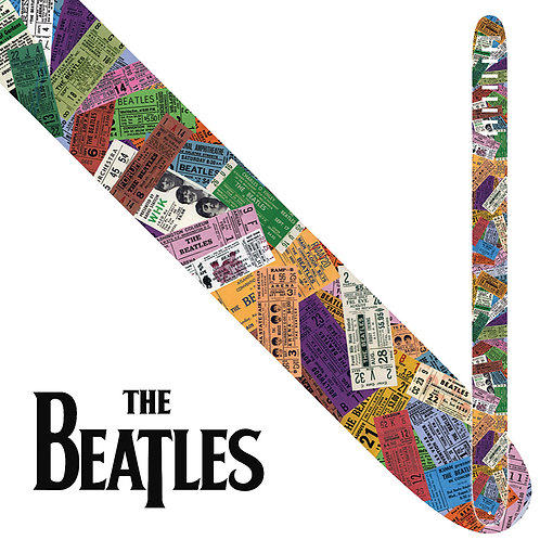 """Perri's The Beatles 2.5"""" Guitar Strap ~ Ticket To Ride"""