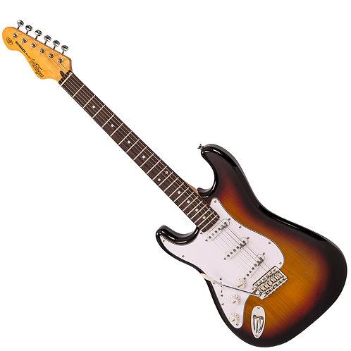 Vintage V6 ReIssued Electric Guitar ~ Left Hand Sunset Sunburst