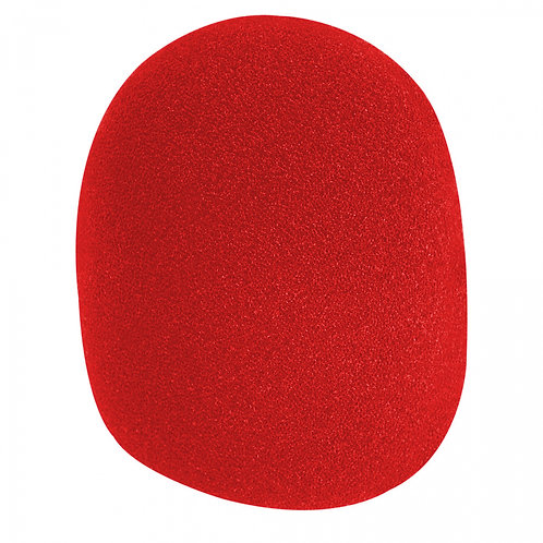 On-Stage Microphone Windshield - Red