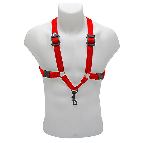 BG Alto, Tenor & Baritone Sax Harness ~ Red ~ Snap Hook