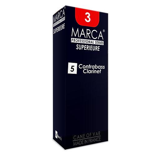 Marca Superieure Reeds - 5 Pack - Contrabass Clarinet - 3