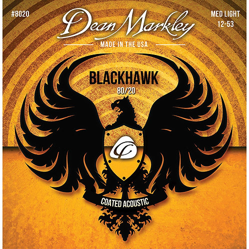 Dean Markley Blackhawk Acoustic 80/20 Medium Light 12-53