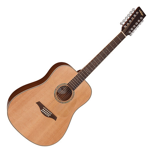 Vintage V501 12-String Acoustic Dreadnought ~ Satin Natural