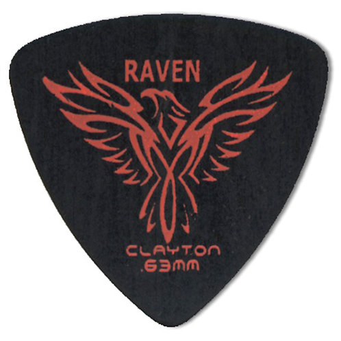 Clayton BLACK RAVEN ROUNDED TRIANGLE .63MM (72 Pack)