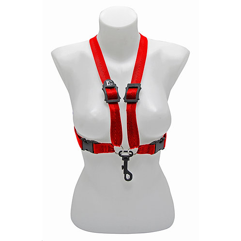 BG Alto & Tenor Sax XL Womens Comfort Harness ~ Red ~ Snap Hook