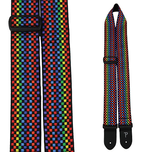 Perris Hope Collection Guitar Strap ~ Rainbow