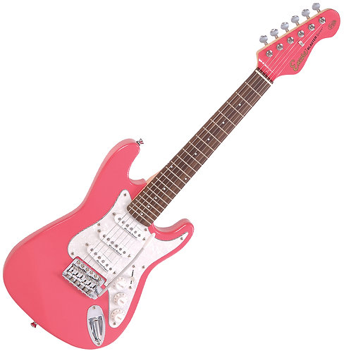 Encore 3/4 Size Electric Guitar ~ Gloss Pink