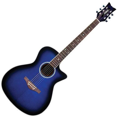Daisy Rock 'Wildwood Artist' Electro-Acoustic Guitar ~ Royal Blue Burst
