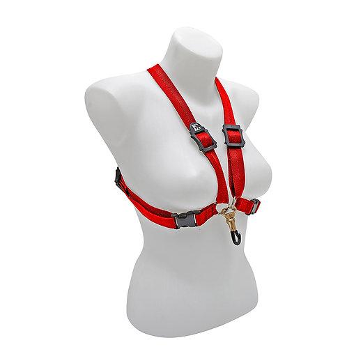 BG Alto, Tenor and Baritone Saxophone Harness Women Large Red Coated Metal Hook