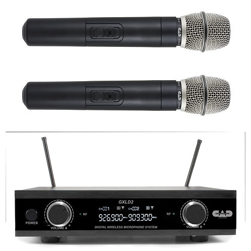 CAD GXLD2 Digital Dual Microphone Wireless System - AH Frequency Band