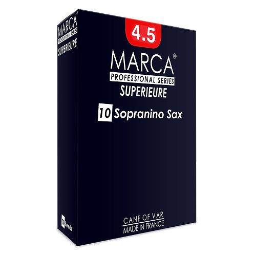 Marca Superieure Reeds - 10 Pack - Sopranino Sax - 4.5
