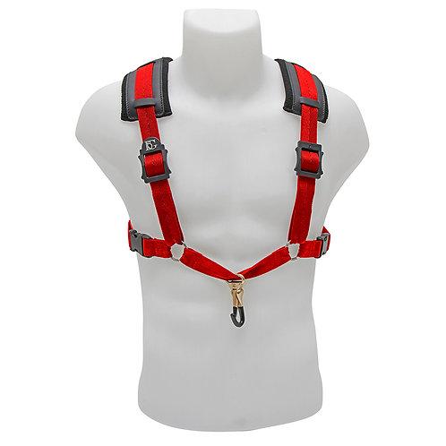 BG Alto, Tenor & Baritone Sax XL Comfort Harness ~ Red ~ Metal Coated Hook