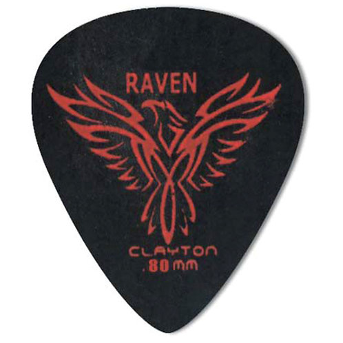 Clayton BLACK RAVEN PICK STANDARD .80MM (12 Pack)