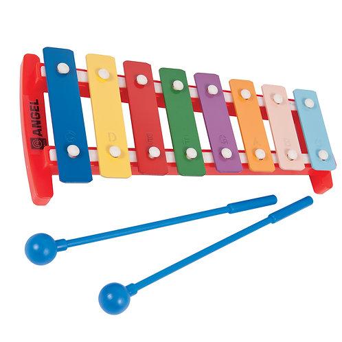 Angel 8 Note Glockenspiel �� Coloured Keys