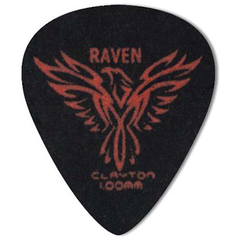 Clayton BLACK RAVEN PICK STANDARD 1.00MM (12 Pack)