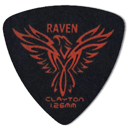 Clayton BLACK RAVEN ROUNDED TRIANGLE 1.26MM (12 Pack)