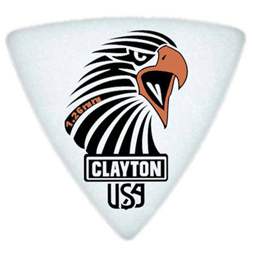 Clayton Acetal Sharp Rounded Triangle 1.26mm (12 Pack)